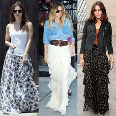 Awesome Maxi Skirt Outfits Designs - Fashall