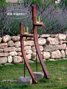 Wine Barrel Project Yard Art