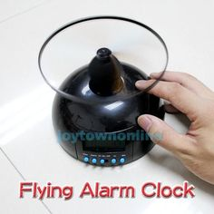 NEW Super Cool Gift for Anyone! Flying Lazy Helicopter Alarm Clock w/Snooze Function