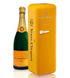 Veuve Clicquot a new years eve classic. Just remember to keep it in the fridge...  :)