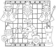 Escuela infantil castillo de Blanca: FICHAS DE AJEDREZ PARA COLOREAR