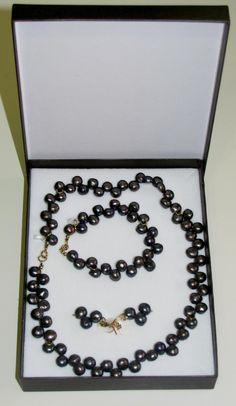 Comprar Conjunto de Perlas Negras Cultivadas - agapenatural.es