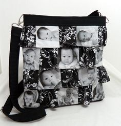 Photo Picture Hip Bag Purse Ruffle Custom by SewEndless on Etsy, $40.00