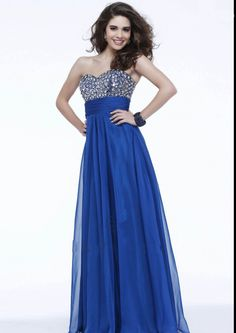 US$159.99 Wholesale Royal Blue Long Chiffon Formal Dress Evening Dress/ Prom Dress 2015 faviana 7337 from - Homecomingnightgirl.com
