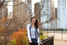 Fall portrait in Chicago. Skyline. Photo by Joanna Smith, Chicago area photographer http://www.joannasmithphotography.com #chicago