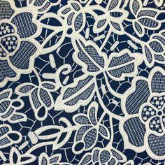 Ebossed Floral Print Jersey - Navy • Shop • Remnant Kings