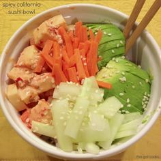 Spicy California Sushi Bowl | This Gal Cooks