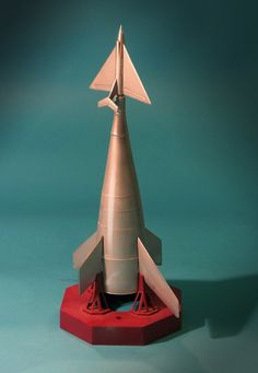 Vintage Science Fiction Model Kit: Multi-Stage Rocketship