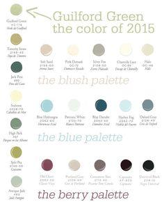 benjamin moore 2015 color palette