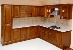 Kitchen Interior Design Ideas In Indian Apartments Kitchen Cupboard Designs, Kitchen Cabinets Decor, Kitchen Room Design, Diy Kitchen Storage, Kitchen Sets, Interior Modern, Small House Interior Design, Home Interior, Interior Design Kitchen