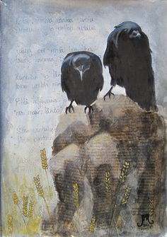 deviantART: Art-Journals/Two old ravens by ~JennyMoedKoprela