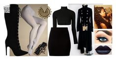 """Untitled #483"" by darkestofgrace ❤ liked on Polyvore featuring Young Sinners, Miss Selfridge and Majesty Black"