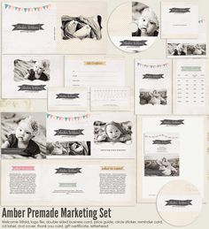 Amber Premade Photography Marketing Set by 7thavenuedesigns, $60.00