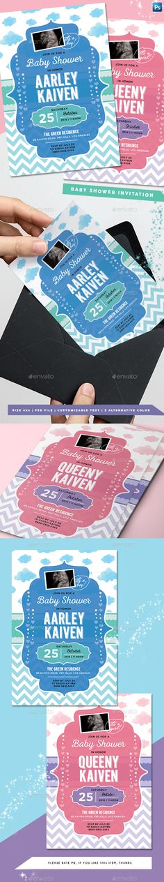Buy Baby Shower Invitation by arifpoernomo on GraphicRiver. Baby Shower Invitation Template, for your baby shower invitation or baby announcement card. Baby Shower Invitation Templates, Invitation Card Design, Invitation Cards, Baby Announcement Cards, Birthday Bbq, Diy For Girls, Baby Boy Shower, Birthday Invitations, Kids