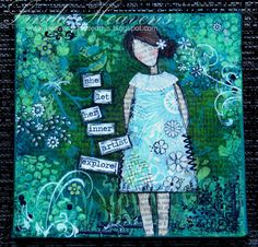 This is called She-Art by Christy Tomlinson.  Google the She Art Workshop for the site.