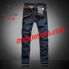Vendre Jeans Louis Vuitton Homme H0021 Pas Cher En Ligne.