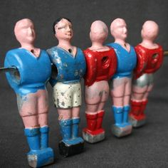 Vintage foosball players