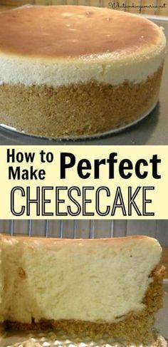 How to Make Perfect Cheesecake - Step-by-Step Photo Tutorial | whatscookingamerica.net | #cheesecake