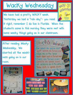 Wacky Wednesday - Golden Gang Kindergarten: Dr. Seuss Math Freebies