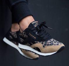 Reebok Classic Nylon: Black Leopard