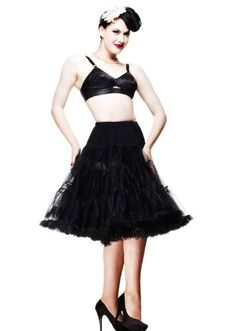 Hell Bunny Plus Black Full Volume Petticoat 27 Length 3XL  5XL * Want additional info? Click on the image.