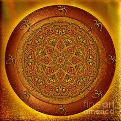 Prosperity mandala - mandala art by Giada Rossi by Giada Rossi Fine Art Prints, Canvas Prints, Fractal Patterns, Orange Art, Sacred Art, Mandala Art, Artist At Work, Fine Art Photography, Art For Sale