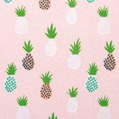 Stoff Ananas pink 140cm