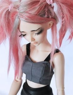 BJD MSD minifee clothes Grey Bodice corset by MonstroDesigns