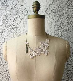 lace necklace by whiteowl on Etsy.