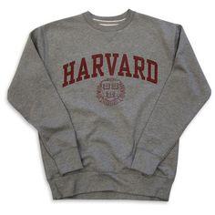 Harvard Sweatshirt Crew Vintage College Heather Grey ($65) ❤ liked on Polyvore