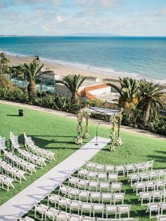 What a great view - Bel Air Bay Club Pacific Palisades CA. What a great view - Bel Air Bay Club Pacific Palisades CA. Beach Wedding Aisles, Beach Wedding Bouquets, Wedding Ceremony, Ceremony Seating, Affordable Wedding Venues, Outdoor Wedding Venues, Modern Wedding Venue, Mod Wedding, Wedding Ideas