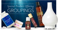 Special Offers: GROUPINGS Young Living Oils, Young Living Essential Oils, Magic Bullet, Chat App, Carrier Oils, Product Offering, Medicinal Plants, Starter Kit, Bloom