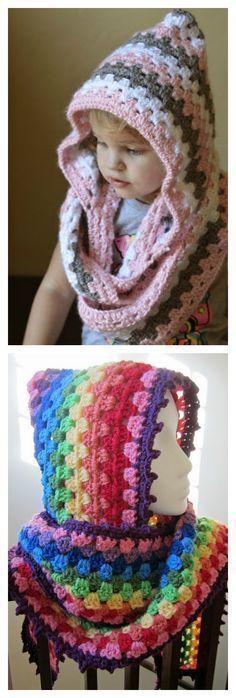 Harlequin Hoodie Free Crochet Pattern #artsandcraftsvideos,