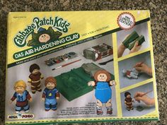 VERY RARE!! Cabbage Patch Kids Das Air-Hardening Clay 1984 RARE Boys This is an extremely rare Limited 1984 Edition of the Cabbage Patch Kids Boys DAS Air-Hardening Clay Modeling Set. Mold and paint your own ceramic-like Cabbage Patch Kids Figures. Includes: one Brush Handy, plastic work/storage tray - 6 mini-squish paints plus clear varnish 18 oz. of DAS Modeling Material 1 long lasting cabbage patch kids mold Instruction book *PLEASE NOTE* This is an extremely rare set from 1984. The original  Cabbage Patch Kids Boy, Pound Puppies, Kids Boys, Badge, Patches, Clay, Baseball Cards, Note, Fun