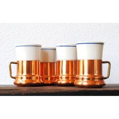 Vintage Copper Mugs