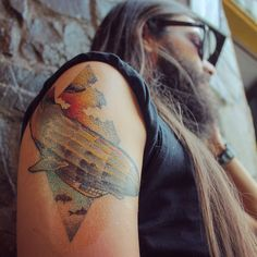 My love for Led Zeppelin is beyond any amount of words. I'll forever be thankful for John Henry Bonham's Moby Dick for ruining the chance to be some other me.  The zeppelin and the mystic whale combined resulted this first tattoo.  #oldbastardstattoo #inkedup #art #armtattoo #posture #drummer #hybrid #drum #tattooink #tattooink #tattooart #tattooed #instatattoo #ocean #sky #zeppelin #mystic #whale #air #water #colours #colors #ink #tattoo #bonzo #johnbomham #mobydick #ledzeppelin