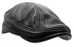 STETSON-Leather-IVY-cap-Gatsby-Mens-Newsboy-hat-Golf-black-flat-driving-s-m-l-xl