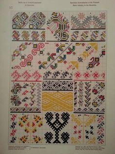 Stickerei aus Bukowina Creative Embroidery, Folk Embroidery, Cross Stitch Embroidery, Embroidery Patterns, Knitting Patterns, Cross Stitch Hoop, Cross Stitch Borders, Cross Stitch Designs, Cross Stitch Patterns
