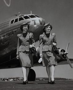 Stewardess  walking in uniform