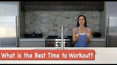 When is the best time to exercise? Most of the time it is when you WILL workout. But there are some times when it is best. Check out the video to learn more!