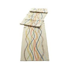 --What a fun table runner to add a great line to your table! --aw--  Marianna Linen Runner | Crate and Barrel