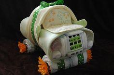 40 Ideias de Bolos de Fraldas Diferente - http://www.gemelares.com.br/2013/08/40-ideias-criativas-para-bolo-de-fraldas.html