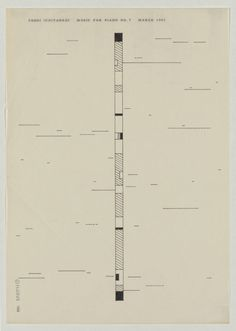 """Influenced by Fluxus artists George Brecht, Dick Higgins, and La Monte Young, (exhibited in 1962 in Tokyo's Minami Gallery """"World Graphic Scores""""), a group of Japanese avant-garde musician began producing scores which promoted the unconventional and improvisational. These pieces, """"open works""""..."""