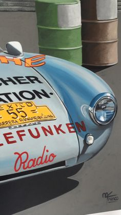 This is the Porsche 550 Spyder that took part in the fifth and last edition of La Carrera Panamericana Mexico in 1954, driven by Hans Herrmann to the finish line in overall third place and class winner. After this win and other succesful appearances in Europe, also at LeMans, the 550 Spyder, became very famous and in 1955 the young rebel actor James Dean bought one to race in California circuits. Dean died tragically a few days after buying his Spyder while driving at high speed Porsche Classic, Classic Cars, Porsche 550, Sports Car Racing, Sport Cars, Actor James, James Dean, Finish Line, Circuits