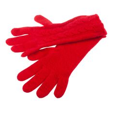 Women's Cable Gloves 3-Ply Cashmere