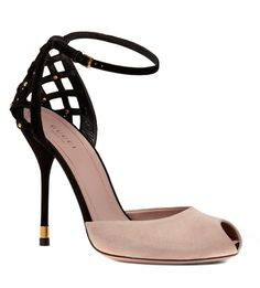 Blushing Blossoms... Gucci Isabel Suede Stiletto Sandals.  Oh YES!