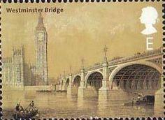 United Kingdom: Westminster Bridge, Postage Stamp by Thad Roan - Bridgepix Postage Stamps Uk, Uk Stamps, Postage Stamp Design, Love Stamps, Westminster Bridge, London History, Fauna, Stamp Collecting, Mail Art