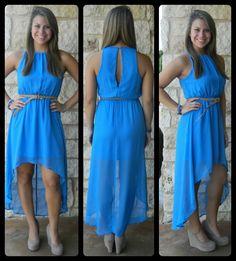 Blue Hi Low Dress $52