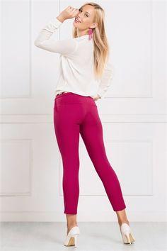 İRONİ DAR PAÇA FUŞYA PANTOLON Pants, Fashion, Trouser Pants, Moda, Fashion Styles, Women's Pants, Women Pants, Fashion Illustrations, Trousers