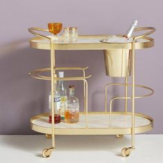 "Check out our web site for more info on ""bar cart decor ideas"". It is actually an excellent place to read more. Diy Bar Cart, Bar Cart Styling, Bar Cart Decor, Bar Carts, Brass Bar Cart, Gold Bar Cart, Drink Cart, Outside Bars, Tea Cart"
